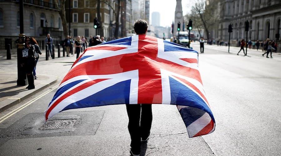 Brexit drapeau londres